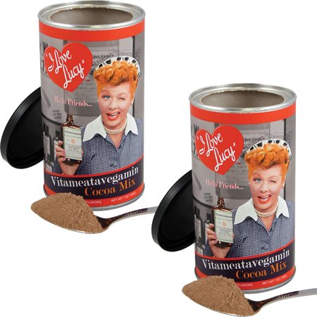 NEW (Set/2) I Love Lucy Vitameatavegamin Cocoa Mix - 7 Oz Hot Chocolate Tin I Love Lucy Mini Tin