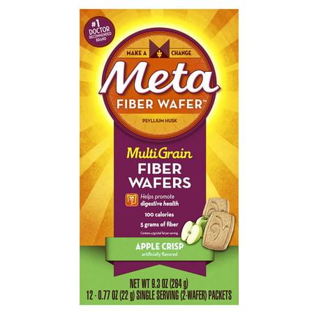Meta Apple Crisp Multi Grain Fiber Wafers, 0.77 oz, 12 count.