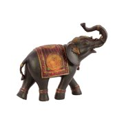 Unique Resin Elephant Small With Red Blanket