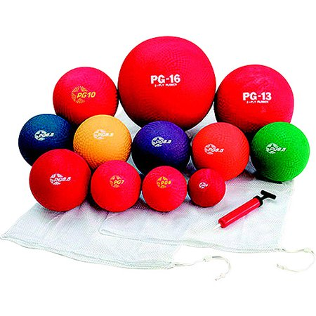 Champion Playground Ball Set, Assorted Sizes, Assorted Colors, Set of 12