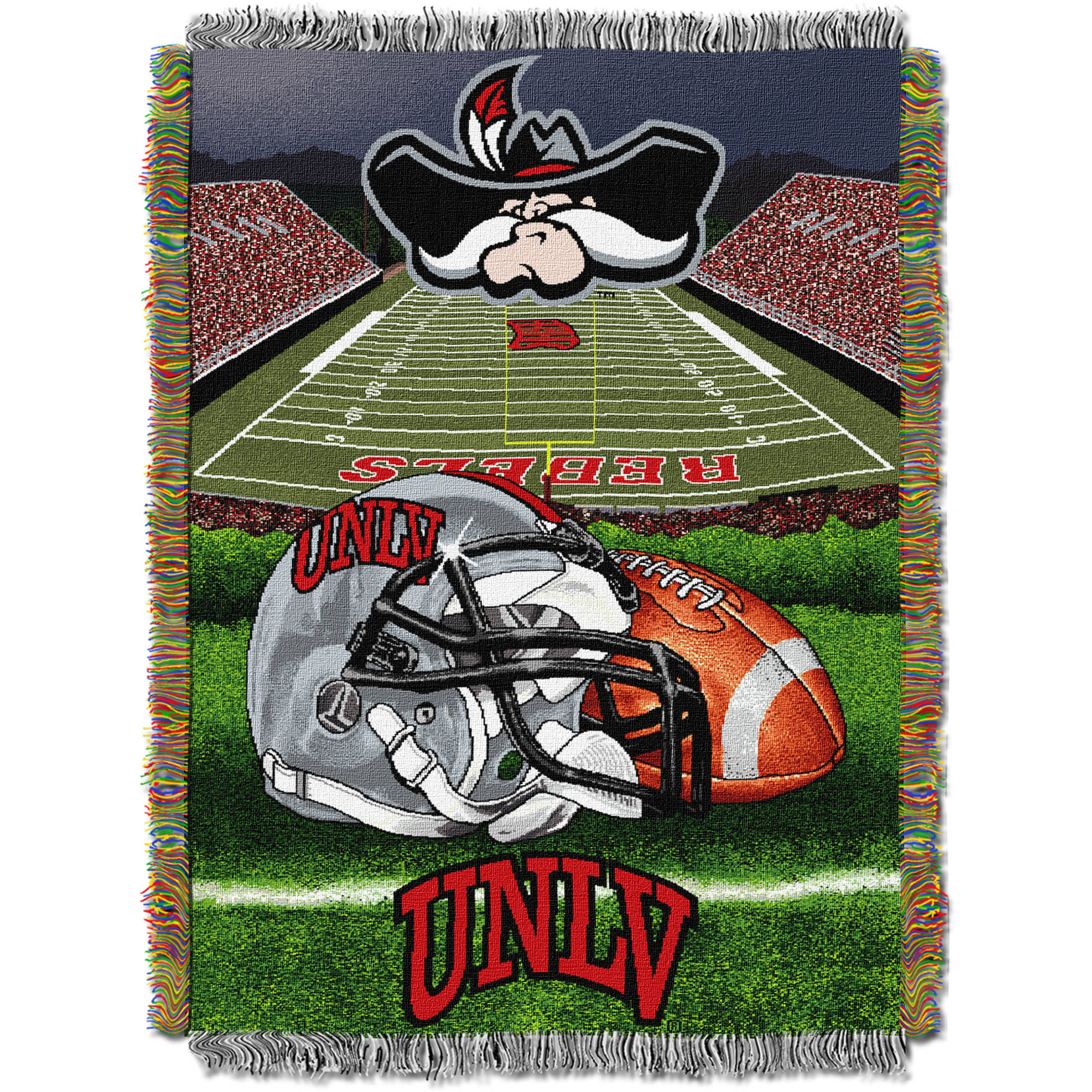 "NCAA 48"" x 60"" Home Field Advantage Series Tapestry Throw, UNLV"
