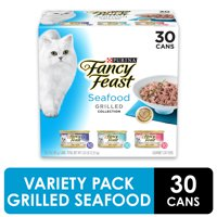 (30 Pack) Fancy Feast Gravy Wet Cat Food Variety Pack, Seafood Grilled Collection, 3 oz. Cans