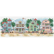 "Dimensions ""Seaside Cottages"" Counted Cross Stitch Kit, 18"" x 7"""