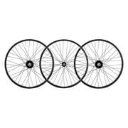 Wheel Masters Whl Set 24X1.75 507X25 Aly Bk 36 Trike 15Mm W/Bearings Dti2.0Bk Sil Nip