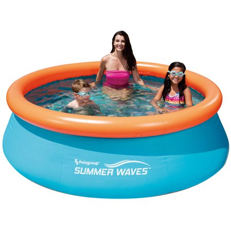 Summer Waves 8 X 30  Quick Set Round Above Ground Swimming Pool With 3D Interior Printing And 2 Pairs Of 3D Goggles