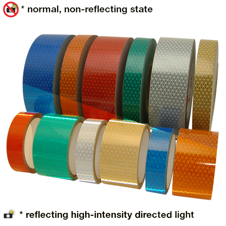 Oralite (Reflexite) V92-DB-COLORS Microprismatic Conspicuity Tape: 3 in. x 50 yds. (Silver-White)