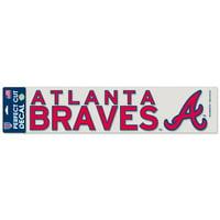 """Atlanta Braves WinCraft 4"""" x 17"""" Die Cut Decal - Red"""