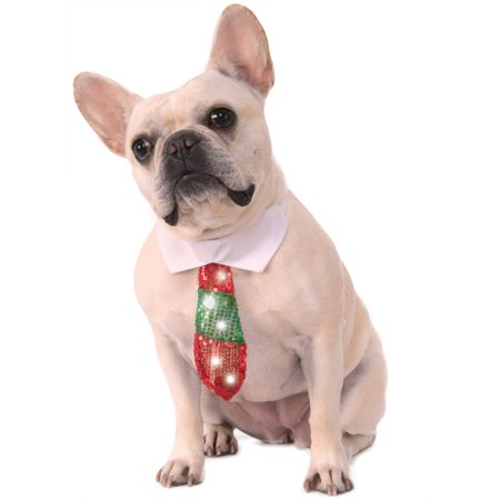 Reversible Holiday Light Up Tie Pet Halloween Costume