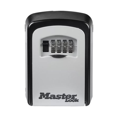 Master Lock Key - Master Lock 5401D Set Your Own Combination Wall Mount Lock Box, 5 Key Capacity, Black
