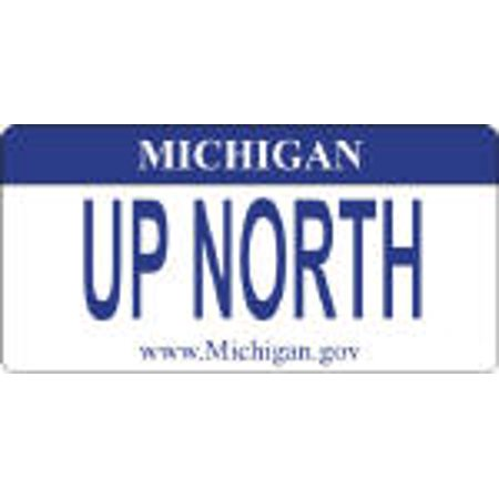 Design It Yourself Michigan State Bicycle Plate #2. Free Personalization on Plate - image 1 de 2