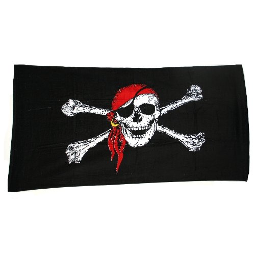 Pirate Beach Towel, 100% cotton By Ruffin Flag Company