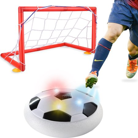 Kids Toys Training Electric Football Goal Set With Parents Game Children Toys Air Power Soccer Disk Foam Bumpers Indoor Outdoor Hover Ball Floating Soccer Game with LED Up Flashing Lights And Music](Soccer Toys)