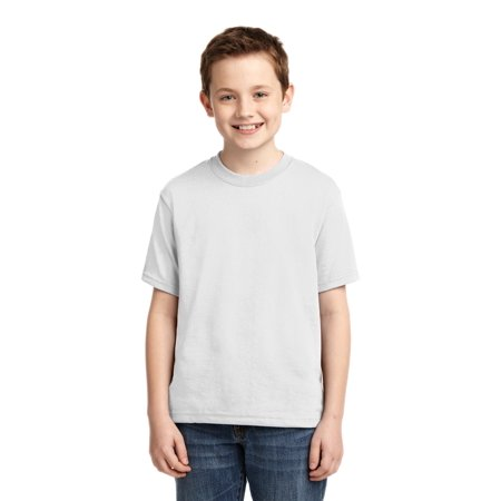 Napoli Away Shirt - Jerzees Big Boys Rib Collar Tear Away Label T-Shirt
