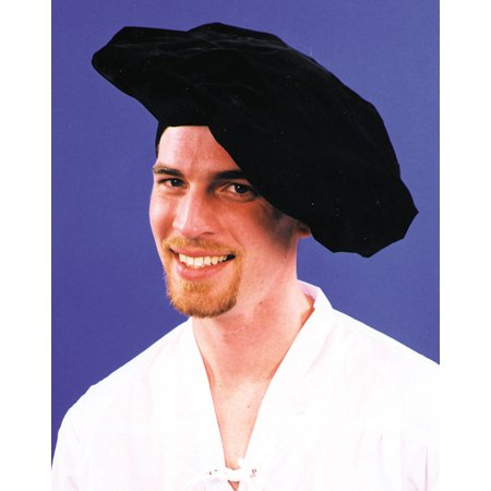 Black Renaissance Hat Adult Halloween Accessory](Renaissance Hats)
