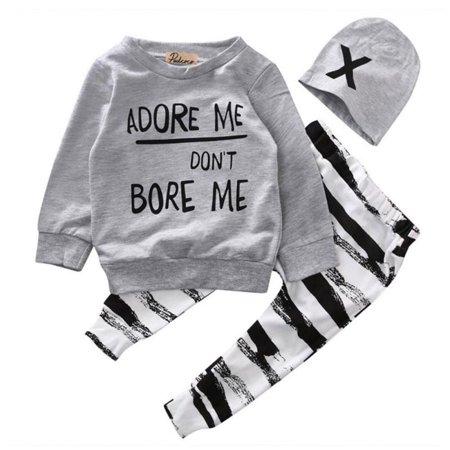 Baby Boys Long Sleeved Cardigan (Newborn Baby Boy Girl Clothes Long Sleeve Cotton Tops T-shirt+Long Pants 2pcs Outfit Set)