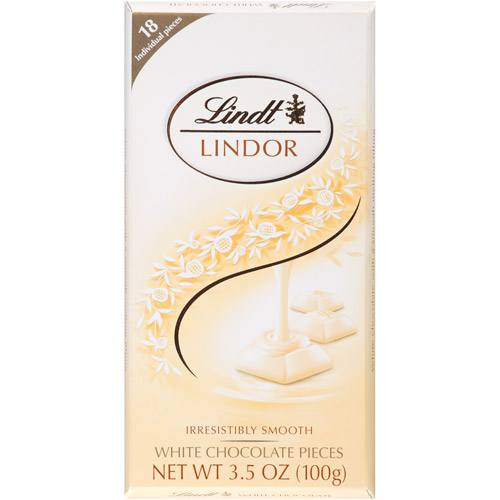 Lindt White Chocolate Pieces, 3.5 oz