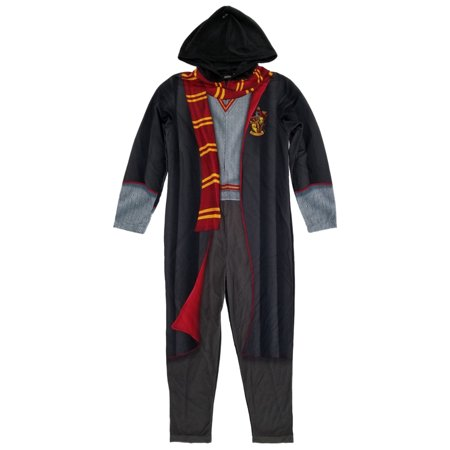 Harry Potter Mens Gryffindor Costume Union Suit Hooded Pajamas - Lois Lane Costume Ideas
