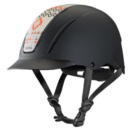 Spirit Troxel Helmets, Prints - Crimson Aztec Troxel Equestrian Spirit Helmet