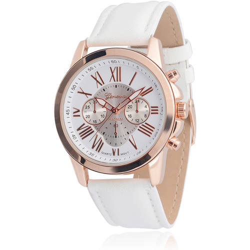 Brinley Co. Women's Faux Leather Chronograph Watch