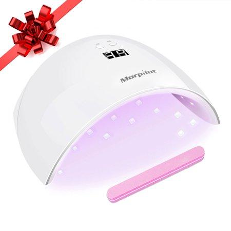 New Year Sales! UV Nail Lamp, Morpilot 9X 24W LED UV LED Nail Dryer Curing Lamp LED Gel Polish Light, UV Gel Nail Art Lamp Nail Care Tools With Sensor ()