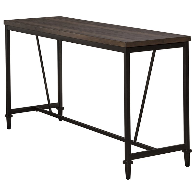 Hillsdale Trevino Counter Height Dining Table in Distressed Walnut