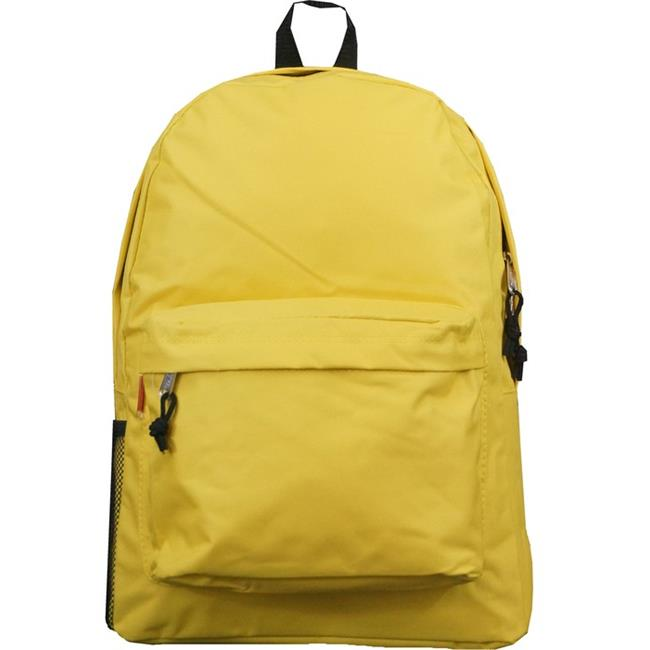 harvest lm192 yellow 18 inch basic backpack school bag