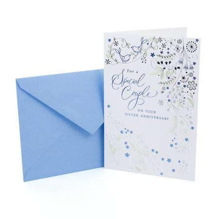 Hallmark 25th Anniversary Greeting Card (Silver Wedding (25th Wedding Anniversary Gift Ideas Your Husband)