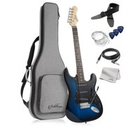 Ashthorpe 39-Inch Electric Guitar, Full-Size Guitar Kit with Padded Gig Bag, Tremolo Bar, Strap, Strings, Cable, Cloth, Picks