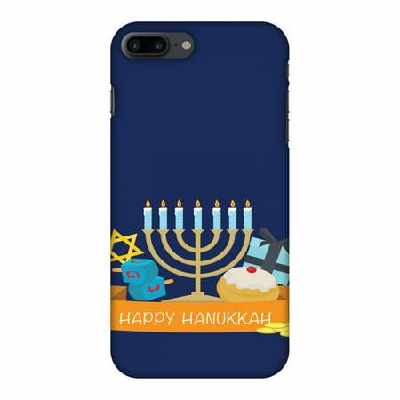 iPhone 7 Plus Case - Hanukkah 2, Hard Plastic Back Cover. Slim Profile Cute Printed Designer Snap on Case with Screen Cleaning Kit](Hanukkah Accessories)