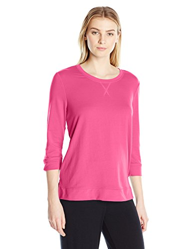 Karen Neuburger Womens Plus-Size Side Split Pullover 3//4 Sleeve Pajama Top
