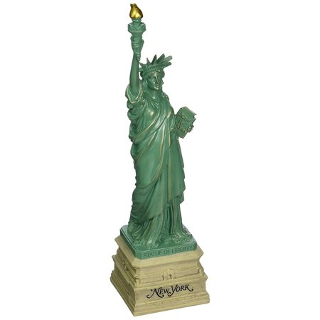 10 Inch Statue of Liberty Statue, Green with Brown New York Base Statues, 10 1/2 high from base to top of torch By Great Places To You