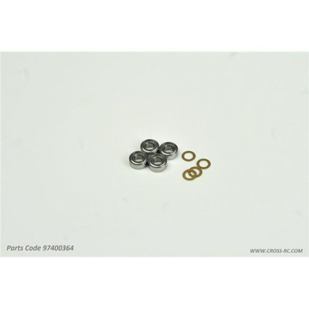 Cross RC CZR97400364 Transfer Case Ball Bearings & Washers for SG4 & SR4 Rock Crawlers
