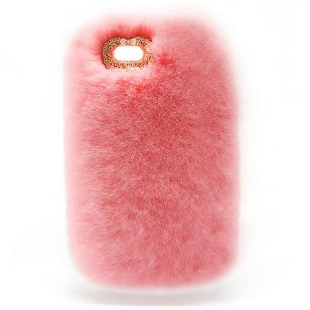 buy online 8fdb8 a6312 Luxury Design Cute Rabbit Fur Phone Case Fashionable Fluffy Warm ...