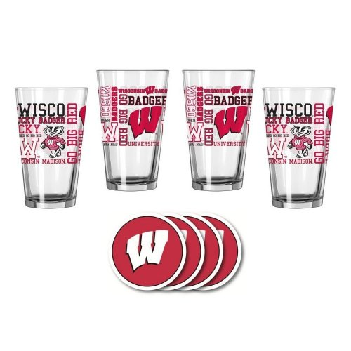 Wisconsin Badgers Spirit Glassware Gift Set