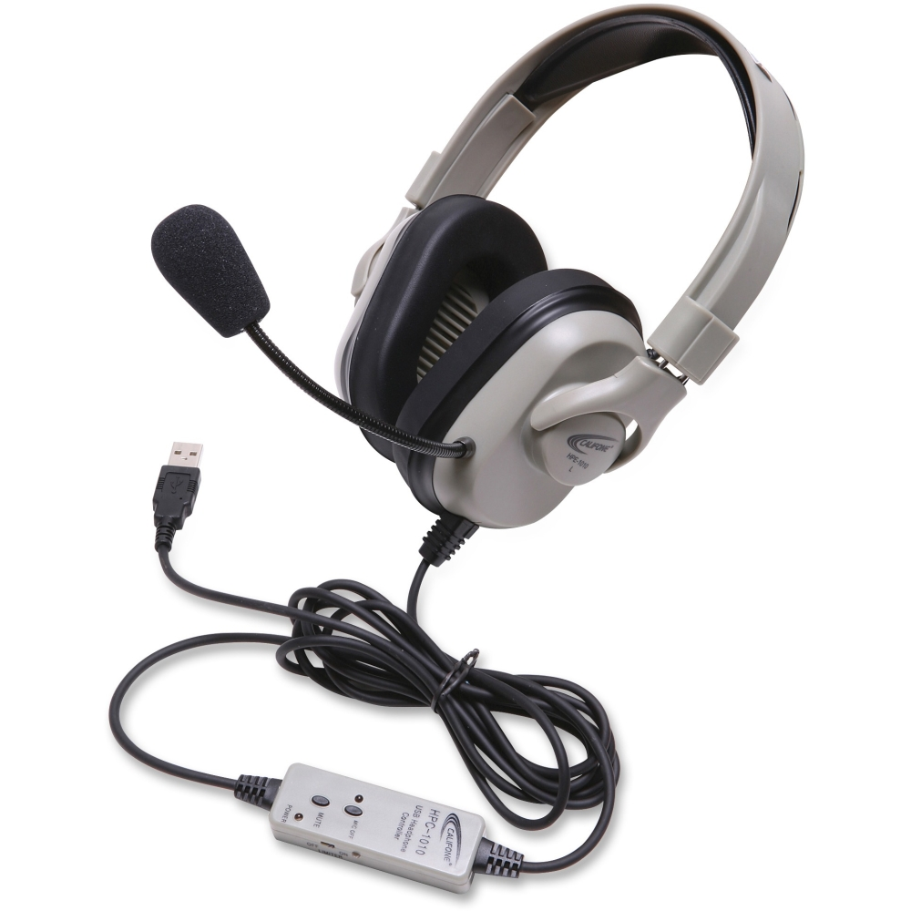 Califone HPK-1010 Titanium Washable Headset with USB Cord