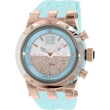 Mulco Unisex Glitz Light Blue Strap Swiss Quartz Watch