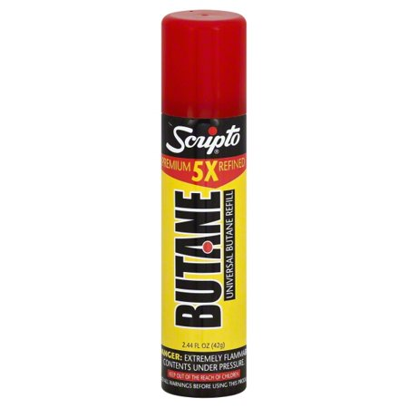 Scripto Lighter DBG42-72 Fluid Butane Refill - 42 gm - Pack of 12