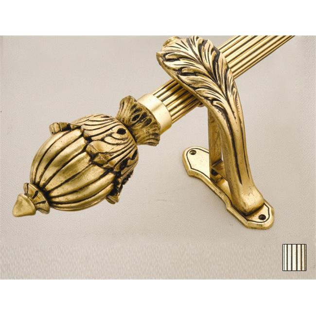 WinarT USA 8. 1065. 45. 07. 240 Palas 1065 Curtain Rod Set - 1. 75 inch - Silver Leaf - 94 inch