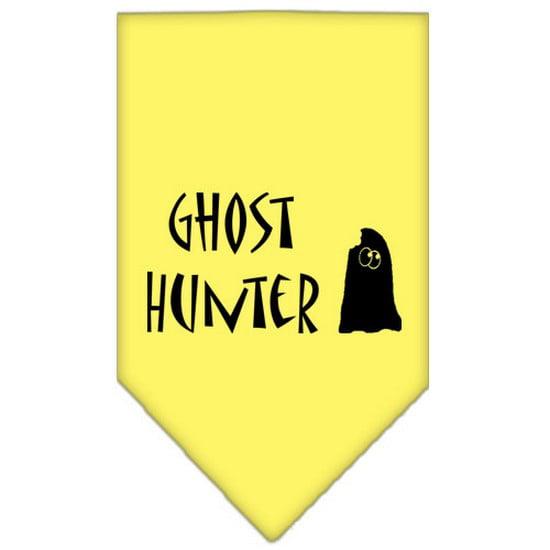 Ghost Hunter Screen Print Bandana Yellow Large