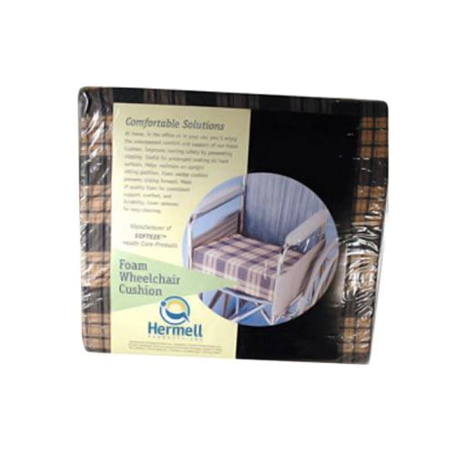 Hermell Foam Flat Surface Wheelchair Cushion, 16 X 18 X 4 Inches, 1 Ea