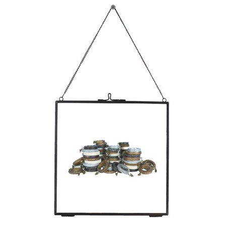 Urbanest Brixton Brass and Glass Hanging Picture (Antique Wire Frame Glasses)