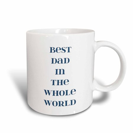3dRose Best Dad in the World - Fathers Day - Words, Ceramic Mug, 11-ounce