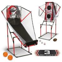 Majik 3-In-1 Arcade Sport Center - Basketball, Baseball, and Football
