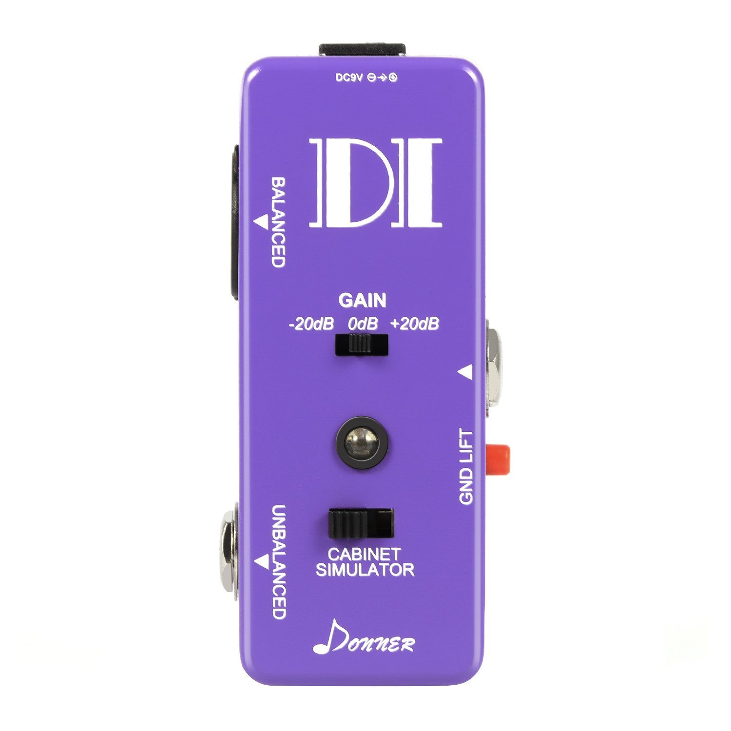 Donner Guitar Bass Passive DI Box Instrument to Balanced & Unbalanced Micro Direct Box... by Donner