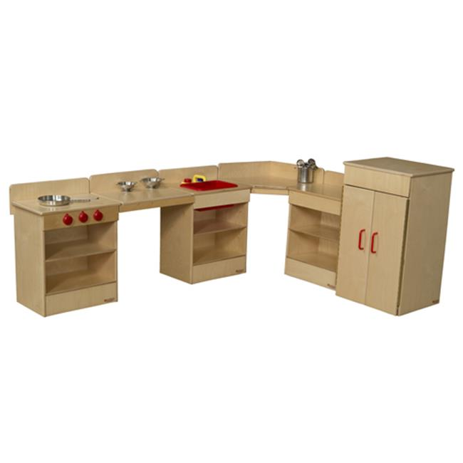 Wood Designs 20006 6 Piece Tot Kitchen With Two Counters by