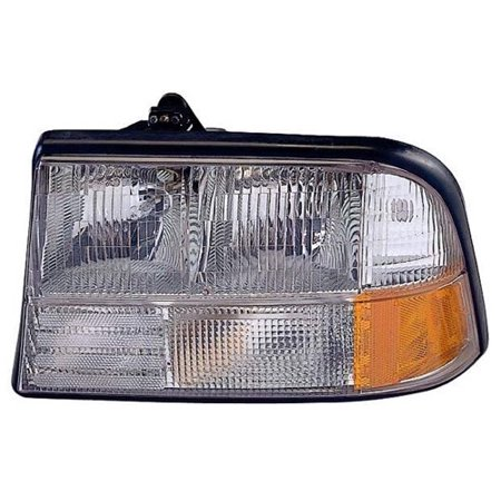 Go-Parts » 1998 - 2001 Oldsmobile Bravada Front Headlight Headlamp Assembly Front Housing / Lens / Cover - Left (Driver) Side 16526227 GM2502174 Replacement For Oldsmobile Bravada