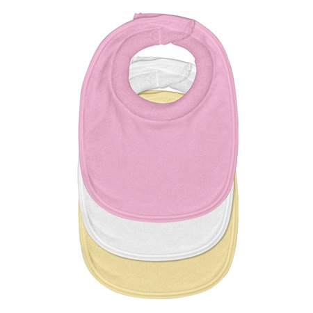 green sprouts Stay-dry Milk Catcher Bib (3pk)-Pink Set-0/6mo