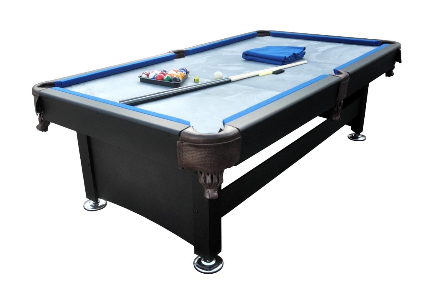 7' x 3.8' Black and Blue Slate Billiard and Pool Game Table