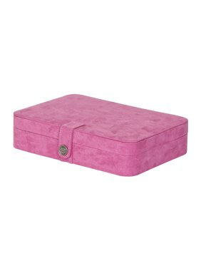 Maria Plush Fabric Jewelry Box with 24 Sections
