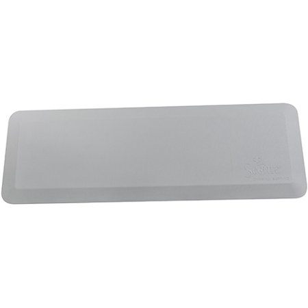 Secure Flatpad Beveled Edge Bedside Fall Safety Mat - Waterproof, Antimicrobial, Non Skid - 24in x 70in x 1in - One Year Warranty